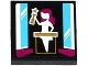 Part No: 3068bpb0966  Name: Tile 2 x 2 with Groove with Female Holding Trophy with Star Pattern (Sticker) - Set 41117