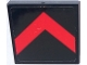 Part No: 3068bpb1312  Name: Tile 2 x 2 with Groove with Red Chevron/Arrow on Black Background Pattern (Sticker) - Set 70915