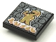 Part No: 3068bpb1628  Name: Tile 2 x 2 with Groove with BeatBit Album Cover - Gold Singer with Minifigure Audience Pattern