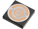 Part No: 3068bpx14  Name: Tile 2 x 2 with Groove with Silver and Copper Circular Pattern