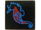 Part No: 3068px11  Name: Tile 2 x 2 with Blue and Red Seahorse Pattern