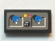 Part No: 3069bpb0073  Name: Tile 1 x 2 with Groove with Blue Joysticks, Buttons, Knob Pattern (Sticker) - Set 8229