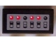 Part No: 3069bpb0092  Name: Tile 1 x 2 with Groove with Switches and Lights Pattern (Sticker) - Sets 7781 / 7787