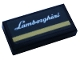 Part No: 3069bpb0873  Name: Tile 1 x 2 with Groove with Silver 'Lamborghini' and Gold Stripe Pattern (Sticker) - Set 76899