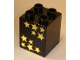 Part No: 31110pb040  Name: Duplo, Brick 2 x 2 x 2 with 10 Stars Pattern