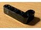 Part No: 32140pb14  Name: Technic, Liftarm, Modified Bent Thick L-Shape 2 x 4 with Dark Bluish Gray Door Handle Pattern (Sticker) - Set 42078