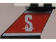 Part No: 3479pb03L  Name: Tail 4 x 2 x 2 with White 'S' (Stena) on Red Background Pattern on Left Side (Sticker) - Set 1548