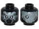 Part No: 3626cpb1154  Name: Minifigure, Head Dual Sided Alien Skull with Mandibles and Silver Eyes / Exoskeleton and One Eye Pattern - Hollow Stud