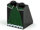 Part No: 3678bpb015  Name: Slope 65 2 x 2 x 2 with Bottom Tube with Dark Green Skirt Panel with White Trim Pattern