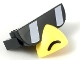 Part No: 36818pb01  Name: Plate, Modified 1 x 3 with Hawkodile Sunglasses and Yellow Beak Pattern