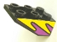 Part No: 3747apb03  Name: Slope, Inverted 33 3 x 2 with Purple and Yellow Flames Pattern on Both Sides (Stickers) - Set 8269