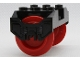 Part No: 38339c02  Name: Train Wheel RC, Holder with Pin Slots with 2 Red Train Wheel RC Train with Pins (38339 / 38340)