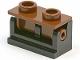 Part No: 3937c04  Name: Hinge Brick 1 x 2 Base with Brown Hinge Brick 1 x 2 Top Plate (3937 / 3938)