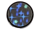 Part No: 4150pb003  Name: Tile, Round 2 x 2 with Holographic Stars Pattern (Sticker)