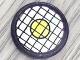 Part No: 4150pb011  Name: Tile, Round 2 x 2 with Black Grid and Yellow Dot Pattern (Sticker) - Set 8829