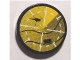 Part No: 4150pb075  Name: Tile, Round 2 x 2 with Yellow Helicopter on Radar Pattern (Sticker) - Set 8634