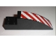 Part No: 41766pb01R  Name: Slope, Curved 8 x 2 x 2 with Red and White Danger Stripes Pattern Right (Sticker) - Set 7632