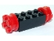 Part No: 4180c02  Name: Brick, Modified 2 x 4 with Wheels, FreeStyle Red Wheels and Pins