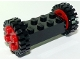 Part No: 4180c02assy1  Name: Brick, Modified 2 x 4 with Wheels, FreeStyle Red with Black Tires 24mm D. x 8mm Offset Tread (4180c02 / 3483)