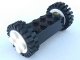 Part No: 4180c03assy1  Name: Brick, Modified 2 x 4 with Wheels, Freestyle White with Black Tires 24mm D. x 8mm Offset Tread (4180c03 / 3483)