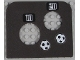 Part No: 42374pb01  Name: Foam Soccer Target 10 x 9 with Two Holes and Number 10, Number 20 and Two Soccer Balls (Football) Pattern (Stickers) - Set 3423