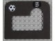 Part No: 42379pb01  Name: Foam Soccer Target 10 x 9 with One Hole and Number 5 and Soccer Ball (Football) Pattern (Stickers) - Set 3423