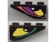 Part No: 4287pb002L  Name: Slope, Inverted 33 3 x 1 with Yellow Eye Left Pattern, Both Sides Different (Stickers) - Set 8257