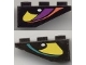 Part No: 4287pb002R  Name: Slope, Inverted 33 3 x 1 with Yellow Eye Right Pattern, Both Sides Different (Stickers) - Set 8257