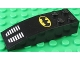 Part No: 44126pb039  Name: Slope, Curved 6 x 2 with Batman Logo and Grille Pattern (Sticker) - Set 6864