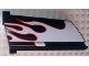 Part No: 44351pb026  Name: Technic, Panel Fairing #21 Large Long, Small Hole, Side B with White Flames with Red Border Pattern (Sticker) - Set 8682