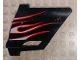 Part No: 44352pb24  Name: Technic, Panel Fairing #22 Large Short, Small Hole, Side A with White Flames with Red Border Pattern (Sticker) - Set 8682