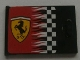 Part No: 4533pb009L  Name: Container, Cupboard 2 x 3 x 2 Door with Checkered Flag and Ferrari Logo Pattern Left (Sticker)