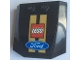 Part No: 45677pb135  Name: Wedge 4 x 4 x 2/3 Triple Curved with Lego and Ford Logos Pattern (Sticker) - Set 75884
