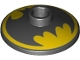 Part No: 4740pb018  Name: Dish 2 x 2 Inverted (Radar) with Black Batman Logo on Yellow Background Pattern