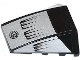 Part No: 47753pb048  Name: Wedge 4 x 4 No Studs with Air Intakes and Filler Cap on Silver Background Pattern (Stickers) - Set 8132