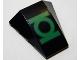 Part No: 47753pb076  Name: Wedge 4 x 4 No Top Studs with Green Lantern Logo Pattern