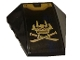 Part No: 47753pb113  Name: Wedge 4 x 4 No Studs with Dark Blue Stripe, Copper and Gold Swords and Ninjago Samurai Mask Pattern (Sticker) - Set 70625