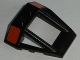 Part No: 47758pb02  Name: Windscreen 4 x 4 x 1 Roll Cage with Red Rectangle Pattern on Both Sides (Stickers) - Set 75101
