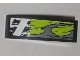 Part No: 50950pb022R  Name: Slope, Curved 3 x 1 with Danger Stripes and Lime Decorative Pattern Model Right (Sticker) - Set 8211