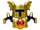 Part No: 51727pb03  Name: Duplo Wear Head Armor with Gold Face Shield and Gold Top and Gold Breastplate and Phoenix Pattern