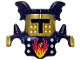 Part No: 51727pb04  Name: Duplo Wear Head Armor with Gold Face Shield and Black Top and Black Breastplate with White Points and Phoenix Pattern