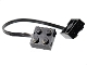 Part No: 5306bc017  Name: Electric, Wire with Brick 2 x 2 x 2/3 Pair,  17 Studs Long
