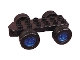 Part No: 54007c02  Name: Duplo Car Base 2 x 6 with Four Black Wheels and Metal Blue Hubs