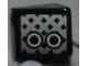 Part No: 54200pb026L  Name: Slope 30 1 x 1 x 2/3 with Grille and 2 Black and White Circles Pattern Model Left Side (Sticker) - Set 8186