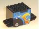 Part No: 54802pb01  Name: Flywheel Inertia Motor 9 x 4 x 3 2/3 with Flame Pattern on Both Sides (Sticker) - Set 8668
