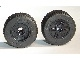 Part No: 55982c03  Name: Wheel 18mm D. x 14mm with Axle Hole, Fake Bolts and Shallow Spokes with Black Tire 30.4 x 14 Solid (55982 / 58090)