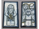 Part No: 57895pb057  Name: Glass for Window 1 x 4 x 6 with Mirrored Albus Dumbledore / Harry Potter with Parents Pattern (Stickers) - Set 75954