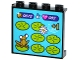 Part No: 60581pb077  Name: Panel 1 x 4 x 3 with Side Supports - Hollow Studs with Frog on Lilypad Arcade Game Display Pattern (Sticker) - Set 41127