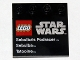 Part No: 6179pb040  Name: Tile, Modified 4 x 4 with Studs on Edge with Lego Star Wars Logo and 'Sebulba's Podracer Sebulba Tatooine' Pattern - Set 9675