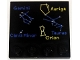 Part No: 6179pb076  Name: Tile, Modified 4 x 4 with Studs on Edge with Gemini, Auriga, Canis Minor, Taurus and Orion Constellations Pattern